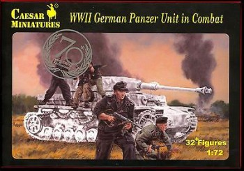 WWII German Panzer Unit in Combat Caesar Miniatures - Nr. H085