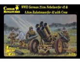 WWII German 21cm Nebelwerfer 42 and 8.8cm Raketwerfer 43 with crew Caesar Miniatures - Nr. H093