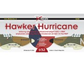 DK decals 32001 - 1:32 Hawker Hurricane airplanes used by the Czechoslovakia airmen in the RAF