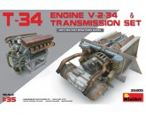 T-34 Engine V-2-34 & Transmission Set MiniArt - Nr. 35205