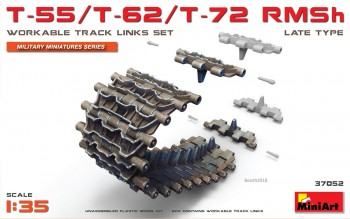 MiniArt 37052 T-55/T-62/T-72 RMSh WORKABLE TRACK LINKS SET. LATE TYPE