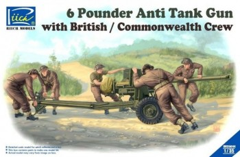 Riich Models RV35044 6 Pounder Anti-Tank Gun with British/Commonwealth Crew